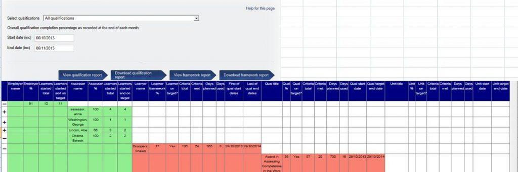 VQmanager eportfolio framework tracker