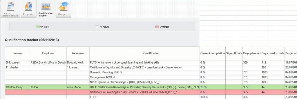 VQmanager eportfolio qualification tracker